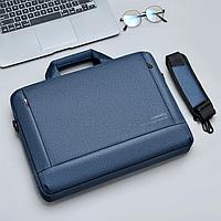 """Сумка, портфель для ноутбука или документов 15,6"""" Dumantu, цвет синий ( код: N017Z )"""
