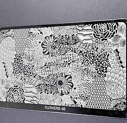 Стемпинг пластини для нігтів Абстракція Вензелі Квіти Візерунки Геометрія - Пластини для стемпинга великі метал
