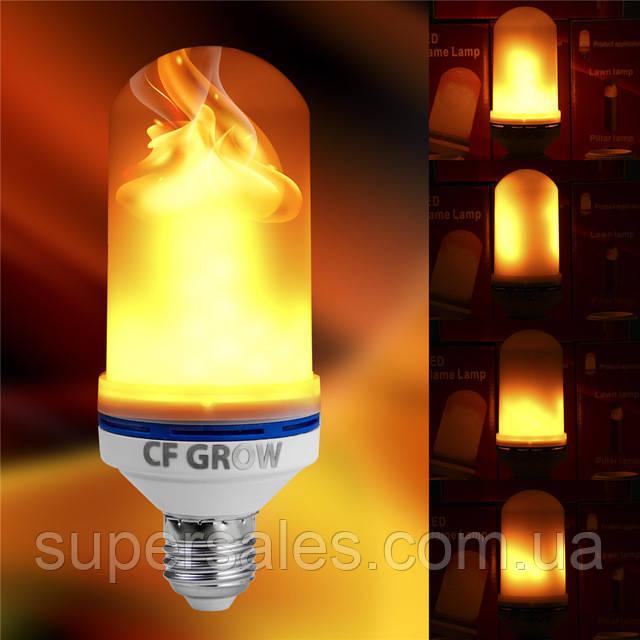 Лампа LED Flame Bulb А+ с эффектом пламени огня, E27 лампочка пламя