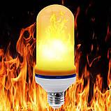 Лампа LED Flame Bulb А+ с эффектом пламени огня, E27 лампочка пламя, фото 3