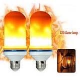 Лампа LED Flame Bulb А+ с эффектом пламени огня, E27 лампочка пламя, фото 4
