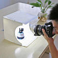 Фотобокс 20 см для предметной съемки Лайтбокс с LED подсветкой Фотокуб USB (M90324), фото 6