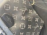 Сумка на пояс бананка Louis Vuitton Луи Виттон, поясная сумка черная с серым, фото 5