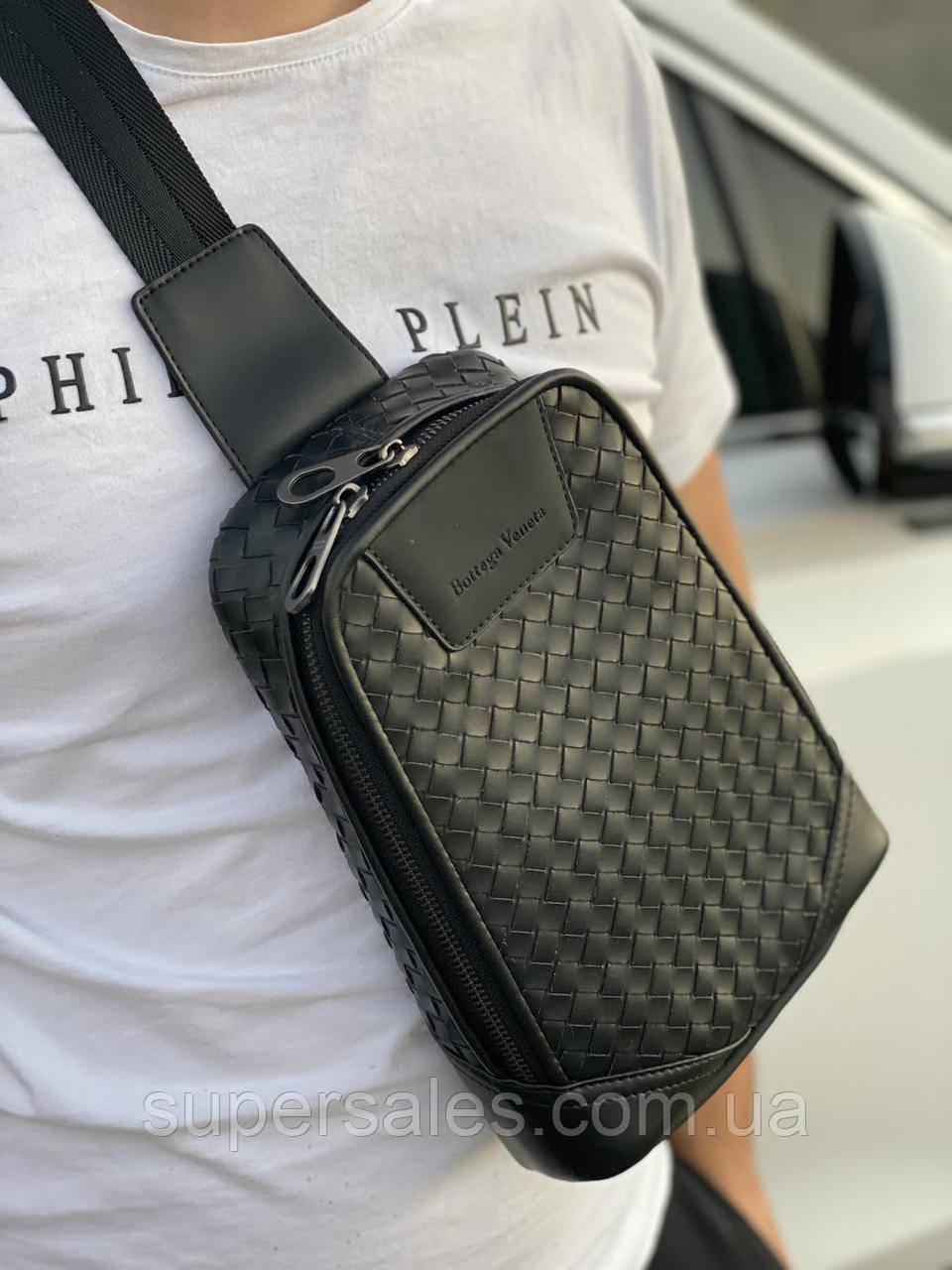 Мужская кожаная сумка-слинг через плечо, рюкзак Bottega Venetta