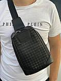 Мужская кожаная сумка-слинг через плечо, рюкзак Bottega Venetta, фото 2