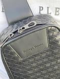 Мужская кожаная сумка-слинг через плечо, рюкзак Bottega Venetta, фото 5