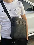 Сумка через плече Bottega Venetta Кожаная сумка с широким ремнем Ботегга Венета Сумка плетеная Bottega, фото 7