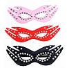 Кожаная маска с заклепками для сексуальных игр черная, фото 2