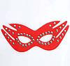 Кожаная маска с заклепками для сексуальных игр черная, фото 3