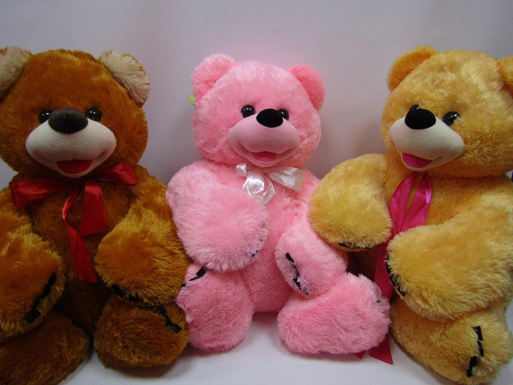 Медведь Веселун 66*69см, 4 цвета