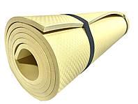 Коврик для йоги и фитнеса «NEWDAY» 1800×600×9мм, EVA, нескользящий Бежевый