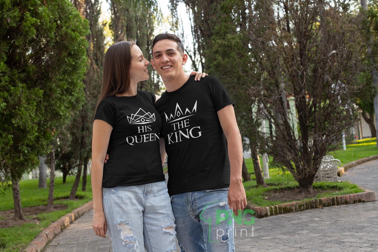 "Парні футболки для закоханих ""Короны King / Queen"""