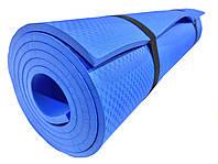 Коврик для йоги и фитнеса «NEWDAY» 1800×600×9мм, EVA, нескользящий Синий