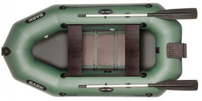 Двухместная гребная надувная лодка Bark (Барк) B250ND с транцем и реечным настилом
