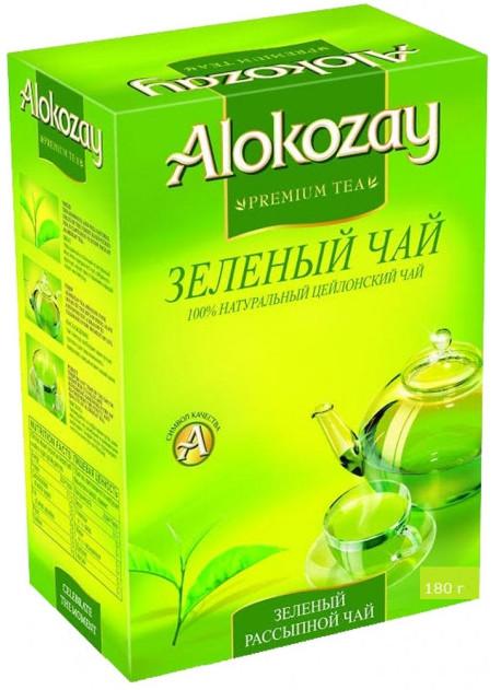 Чай зелений листовий Alokozay середній лист 180 грам