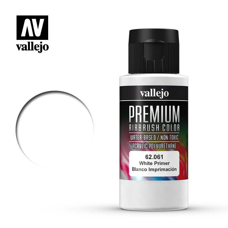 Грунтовка белая, 60 мл. VALLEJO PREMIUM 62061