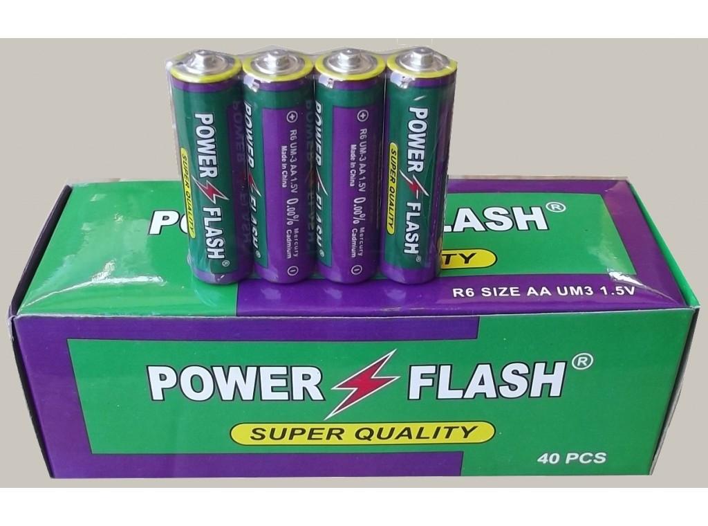 Батарейки Power Flash R6 (Super quaility), АА