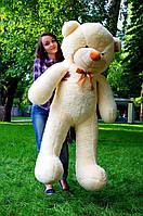 Плюшевый мишка Рафаэль 160 см, мягкая игрушка на подарок, мягкий медведь, игрушечный медведь бежевый
