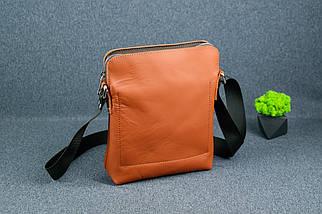 """Мужская сумка """"Модель №88"""", кожа Grand, цвет Коньяк, фото 2"""