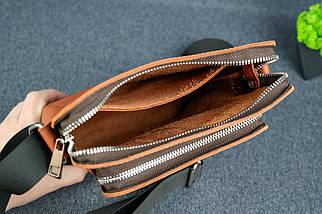 """Мужская сумка """"Модель №88"""", кожа Grand, цвет Коньяк, фото 3"""