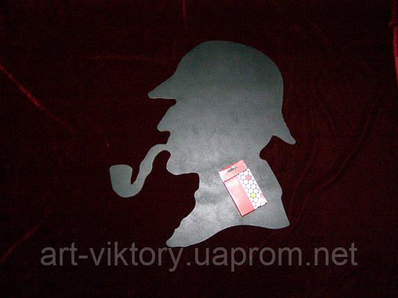 Меловая доска Шерлок Холмс (46 х 40), декор, фото 2