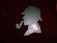 Меловая доска Шерлок Холмс (46 х 40), декор