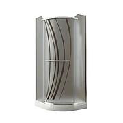 Душевая кабина Aquaform PUENTA  90см 100-06610, 900/2000 хром стекло, с поддоном 300-96052