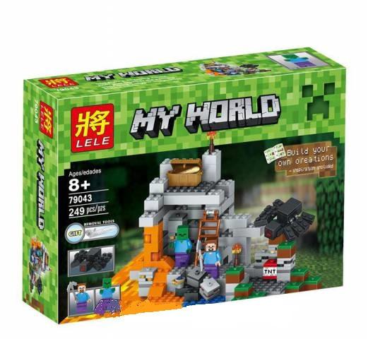 Конструктор Майнкрафт/Minecraft LELE 79043, 249 деталей