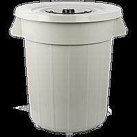 Бак для мусора Planet №6 120 л серый