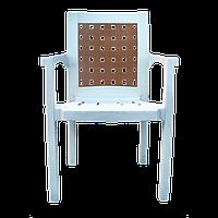Кресло Хризантема белое
