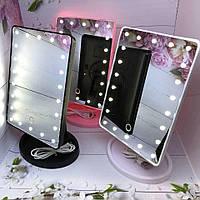 Зеркало косметическое с подсветкой, косметическое зеркало для макияжа, зеркало с лед подсветкой