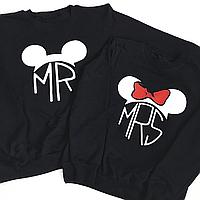 """Парные свитшоты с принтом """"MR&MRS Mouse"""""""