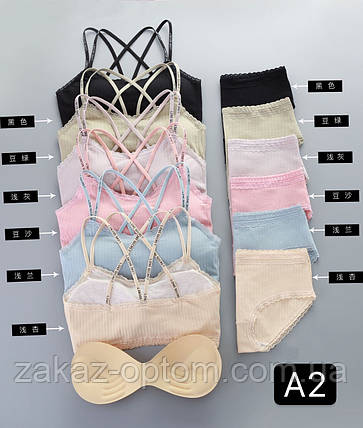 Комплект женского нижнего белья оптом S-L Китай A2-65917, фото 2