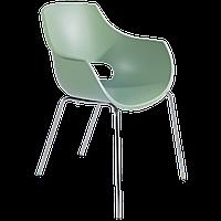 Крісло Papatya Opal-ML PRO зелений резеда, ніжки хром
