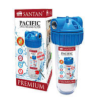 """Фільтр для очищення води SANTAN Pacific 3PS, 1/2"""" (корпус+сітка, кріплення і ключ)"""
