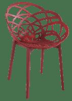 Крісло Papatya Flora матовий червоний цегла сидіння, ніжки матовий цегла