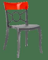 Стул Papatya Opera-S сиденье антрацит, верх прозрачно-тёмно-красный