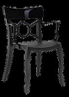 Кресло Papatya Opera-K сиденье черное, верх черный