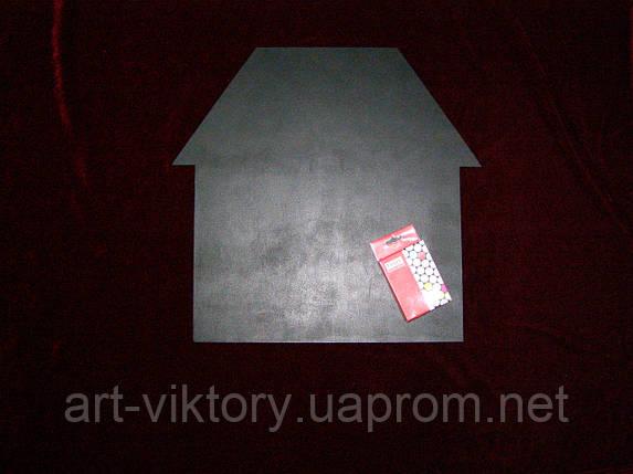 Меловая доска Дом (40 х 41), декор, фото 2