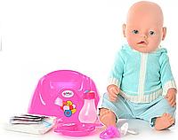 Пупс кукла 42 см BB 8001 D Маленькая Ляля новорожденный с аксессуарами Т