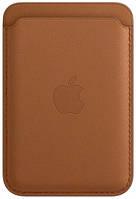 Чехол-бумажник для Iphone 12, 12 Pro, 12 Pro Max (Leather) Golden Brown