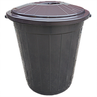 Контейнер для мусора с крышкой на 49 л Eco шоколад Irak Plastik