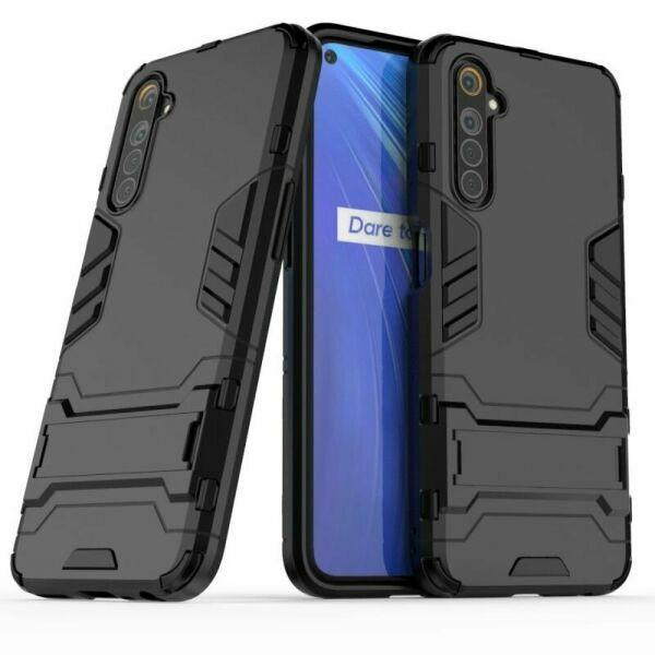 Чехол Fiji Hybrid для Realme 6S бампер с подставкой черный