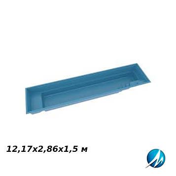 Стекловолоконная чаша XL-Fast Lane, 12,17х2,86х1,5 м