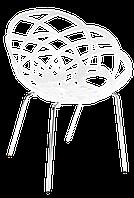 Кресло Papatya Flora-ML белое сиденье, ножки хром