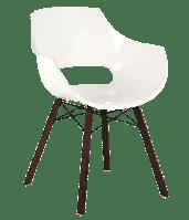 Кресло Papatya Opal Wox Iroko белое