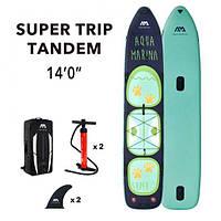 Надувна дошка SUP Aqua-Marina Super Trip Tandem-Family 14