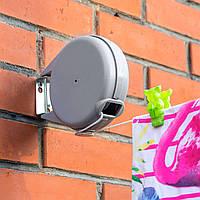 Сушилка для белья Tatkraft Artmoon Long уличная настенная выдвижная 12м серая (699799)