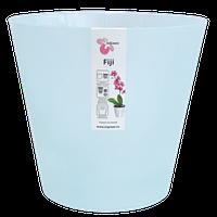 Горшок для цветов Фиджи Орхид D 160 мм / 1,6 л голубой перламутровый