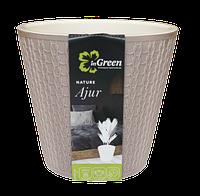 Горшок для цветов Ajur D200мм/4л Молочный шоколад